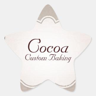 Cocoa Custom Baking Star Sticker
