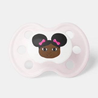 Cocoa Cutie Mocha Pink Bows Pacifier