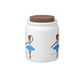 Cocoa Cuties Ballerina Blue (Mocha) Candy Dish