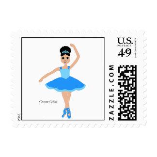 Cocoa Cuties Ballerina Blue Postage