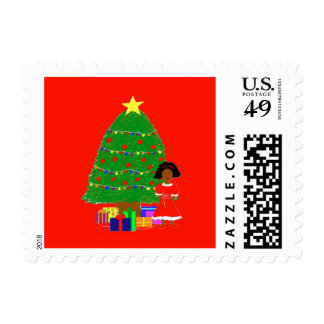 Cocoa Cuties Red Postage Stamp
