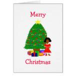 Cocoa Cuties White Christmas Card