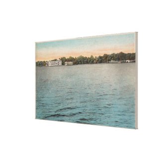 Cocoa, Florida - View of Brevard Hotel & Indian Canvas Print