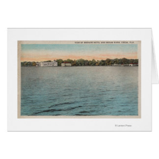 Cocoa, Florida - View of Brevard Hotel & Indian Cards