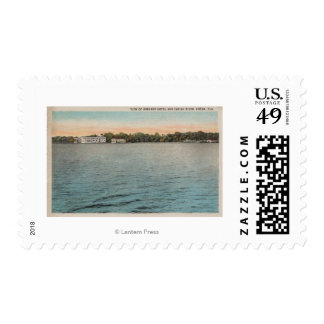 Cocoa, Florida - View of Brevard Hotel & Indian Stamps