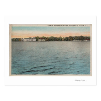Cocoa, Florida - View of Brevard Hotel & Indian Postcards