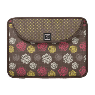 Cocoa Fuschia Floral Rickshaw Sleeve for MacBooks