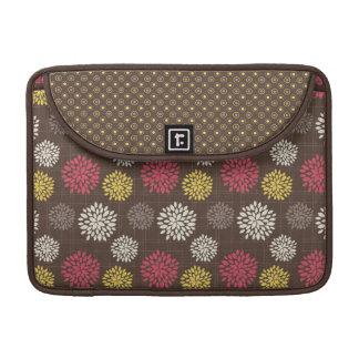 Cocoa Fuschia Floral Rickshaw Sleeve for MacBooks