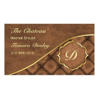 Cocoa Ganache Damask Business Card