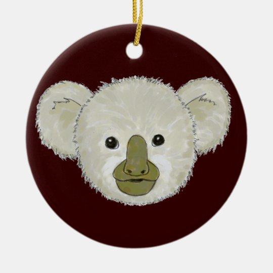 Cocoa Koala Bear Ceramic Ornament