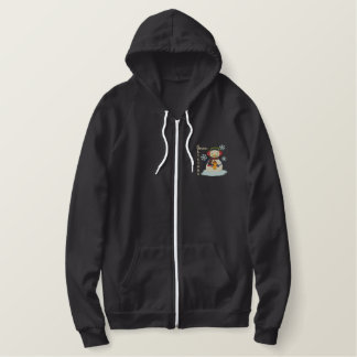 Cocoa-Liscious Winter Weather Fun Embroidered Hoodie