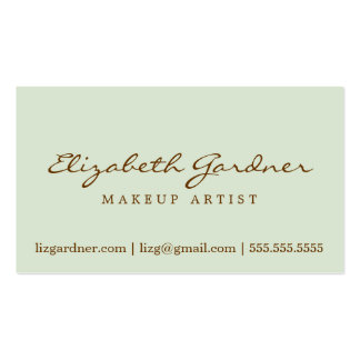 Cocoa & Mint Chic Damask Design Business Card