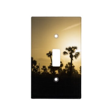 Cocoa Palm Silhouette Light Switch Cover