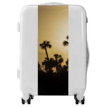 Cocoa Palm Silhouette Luggage