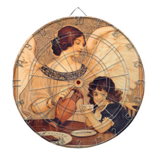 Cocoa Party Candy Angel Vintage Poster Dart Board