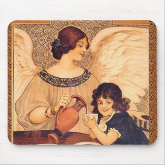 Cocoa Party Candy Angel Vintage Poster Mouse Pad