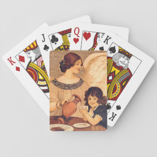 Cocoa Party Candy Angel Vintage Poster Playing Cards