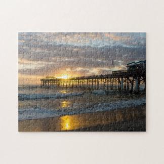 Cocoa Pier 1st Sunrise 2017 Jigsaw Puzzle
