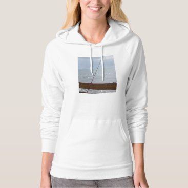 Beach Themed Cocoa Pier Fishing Hoodie