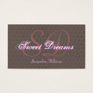 Cocoa & Pink Custom Monogram Business Card