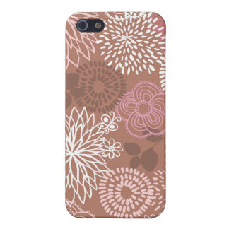 Cocoa & Pink Flowers iPhone4 Case