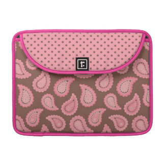 Cocoa & Pink Paisley Rickshaw Sleeve for MacBooks
