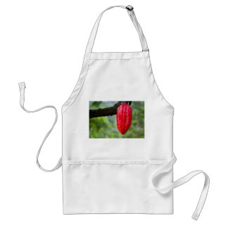cocoa pod red adult apron