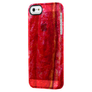 cocoa pod red clear iPhone SE/5/5s case