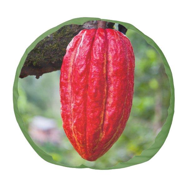 cocoa pod red pouf
