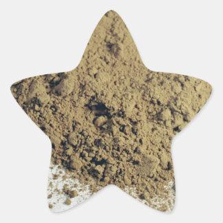 Cocoa powder star sticker
