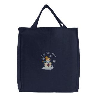 Cocoa Snowmen Canvas Bags