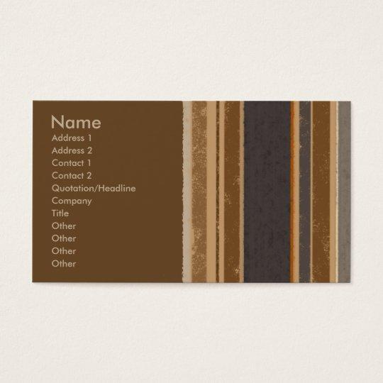 Cocoa Stripes Business Card
