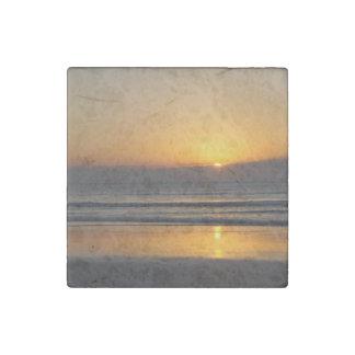 Cocoa Sunrise Stone Magnet