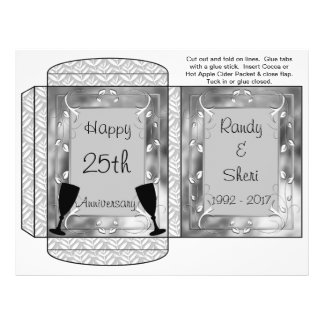 Cocoa, Tea, Cider Packet Silver Anniversary Favors Flyer