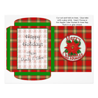 Cocoa, Tea, Cider Packet Winter Christmas Favors Flyer