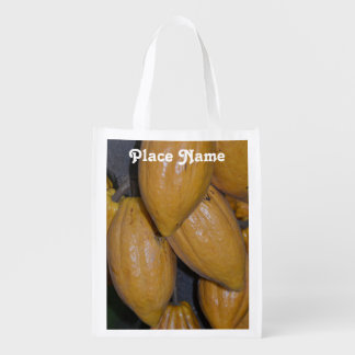 Cocoa Trees Reusable Grocery Bag