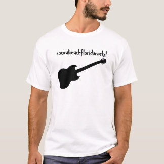 cocoabeachfloridarocks! black guitar T-Shirt