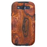 Cocobolo (wood) Finish Samsung Galaxy S case Samsung Galaxy S3 Cases