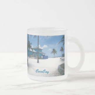 CocoCay Frosted Glass Coffee Mug