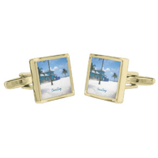 CocoCay Gold Cufflinks