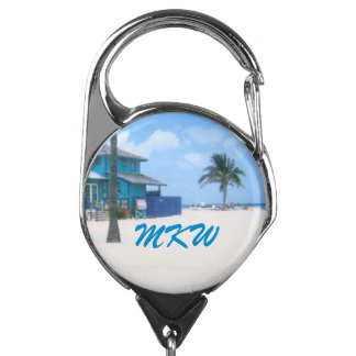 CocoCay Monogrammed Badge Holder