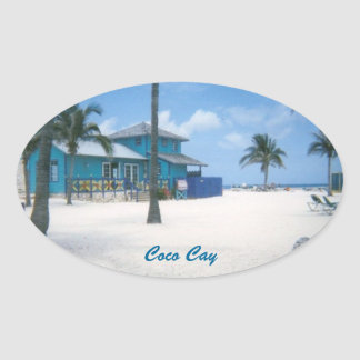 CocoCay Oval Sticker