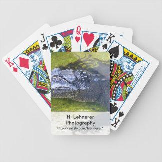 Cocodrilo americano baraja cartas de poker