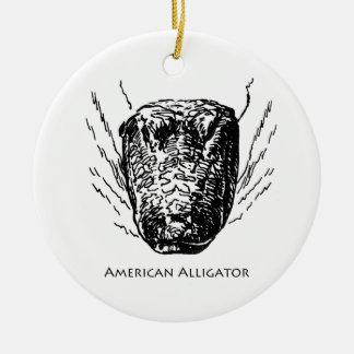 Cocodrilo americano adorno redondo de cerámica