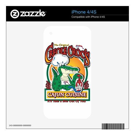 Cocodrilo de Cajun del carnaval iPhone 4 Skins