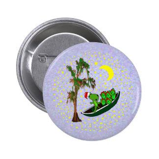 Cocodrilo de Cajun Santa en botones de Navidad de  Pin