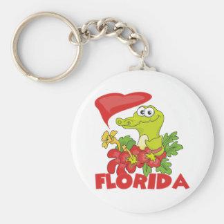 Cocodrilo de la Florida Llavero Redondo Tipo Pin