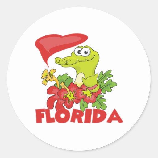 Cocodrilo de la Florida Pegatina Redonda