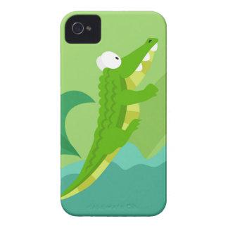 Cocodrilo de mi serie de los animales del mundo funda para iPhone 4