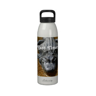 Cocodrilo de Timor Oriental Botellas De Beber